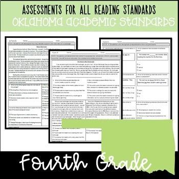 4th Grade ELA Assessments *School License* OAS Aligned