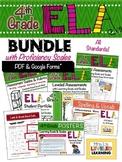 4th Grade ELA Bundle with Marzano Proficiency Scales -  PDF & Google Forms!