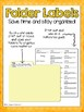 4th Grade ELA CCSS Folder Labels