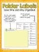 4th Grade ELA CCSS Folder Labels