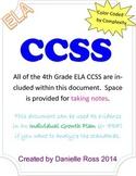 4th Grade ELA CCSS Template