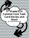 4th Grade ELA Common Core Based Task Card Review Scoot/ Game/ Connect 4