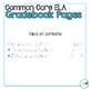 4th Grade ELA Common Core Gradebook Pages **EDITABLE**