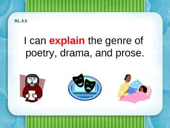 "4th Grade ELA Common Core ""I Can"" Statements"