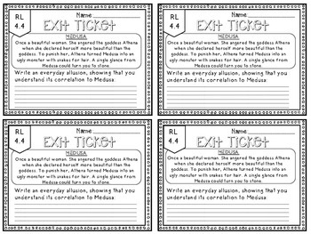4th Grade ELA Common Core Reading Literature Exit Tickets {ALL Lit. Standards}