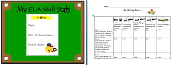 4th Grade ELA Common Core: Student Data Tracking Binder (All Standards)