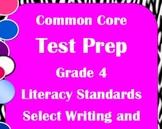 4th Grade ELA Common Core Test Prep: Literary, Writing, an