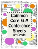 Workshop Conference Sheets (4th) - CCSS Aligned