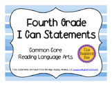 4th Grade Common Core ELA I Can Statements