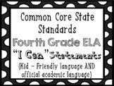 4th Grade ELA I Can...  Statements {CCSS Aligned}