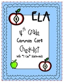 "4th Grade ELA ""I Can"" Statements {Common Core Aligned for"