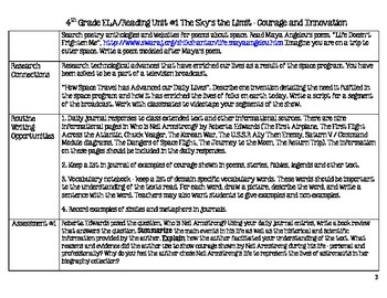 4th Grade ELA Lesson Plans Unit #1