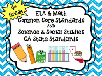 4th Grade ELA & Math Common Core AND Science & Social Stud
