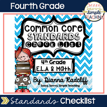 4th Grade ELA & Math Common Core Student Data Checklist