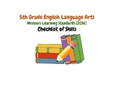 5th Grade ELA Missouri Learning Standards Checklist of Skills