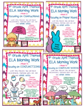 4th Grade ELA Morning Work/Bell Work: WHOLE month! April T