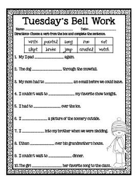 4th Grade ELA Morning Work/Bell Work: WHOLE month! December Themed Worksheets!