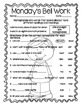 4th Grade ELA Morning Work/Bell Work: WHOLE month! October Themed Worksheets!