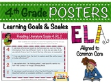 4th Grade ELA Posters with Learning Goals and Scales - Aligned to Common Core