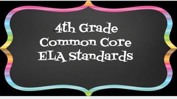 4th Grade ELA Standards
