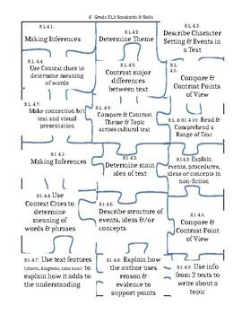 4th Grade ELA Standards Puzzle Tracker
