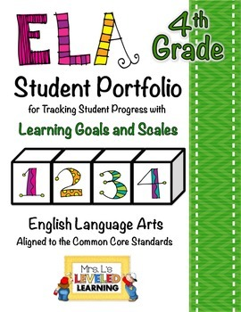 4th Grade ELA Student Portfolio Pages with Marzano Scales - FREE!