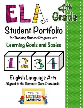4th Grade ELA Student Portfolio Pages with Marzano Scales - FREE!
