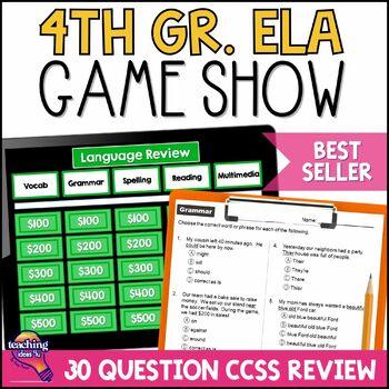 4th Grade ELA Test Prep Game Show & Practice Review Test FSA AIR