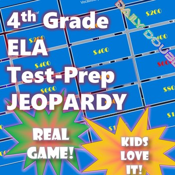 4th Grade ELA Test Prep Jeopardy CAASPP Smarter Balanced