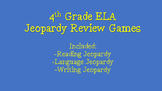 4th Grade ELA Test Prep Jeopardy Game BUNDLE