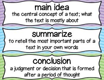 4th Grade ELA Vocabulary Cards