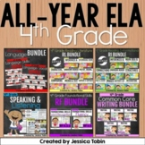 4th Grade ELA Year-Long GROWING Bundle Curriculum-  ELA Common Core Standards