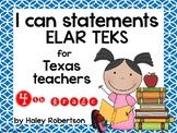 "4th Grade ELAR ""I can"" statements- Circle pattern (using N"