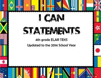 4th Grade ELAR TEKS I can Statements