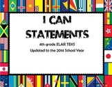 4th Grade ELAR TEKS I can Statements