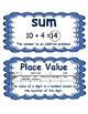 4th Grade ENGLISH Math Word Wall