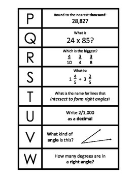 4th Grade: EOG Review Cards