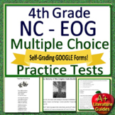 4th Grade EOG Test Prep NC READY ELA Reading Practice Tests Bundle