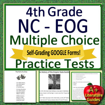 4th Grade NC EOG Test Prep Reading Assessments North Carolina NC ...