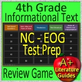 4th Grade EOG Test Prep NC READY Reading Informational + Non-Fiction Review Game