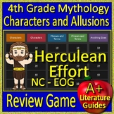 4th Grade EOG Test Prep NC READY Reading Literature Greek Mythology Game