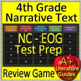 4th Grade EOG Test Prep NC READY Reading Literature and Narrative Review Game