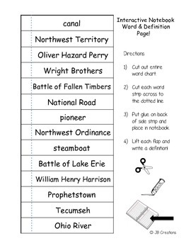 4th Grade Early Ohio Content Specific Vocabulary Activity Pack (Ohio Model)