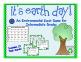 4th Grade Earth Day Scoot Game!  (environmental trivia facts)
