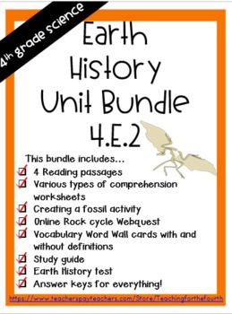 4th Grade Earth History Bundle