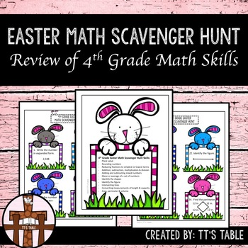 4th Grade Easter Math Scavenger Hunt