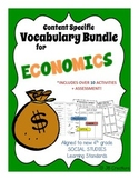 4th Grade Economics Content Specific Vocabulary Activity Pack (Ohio Model)