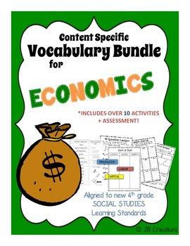 4th Grade Economics Content Specific Vocabulary Activity Pack (Ohio Model)