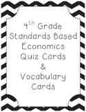 4th Grade Economics Vocabulary Cards and Quiz Game