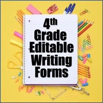 Editable Writing Forms 4th Grade Bundle - 4th Grade Writing Curriculum